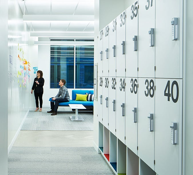 workplace shared lockers