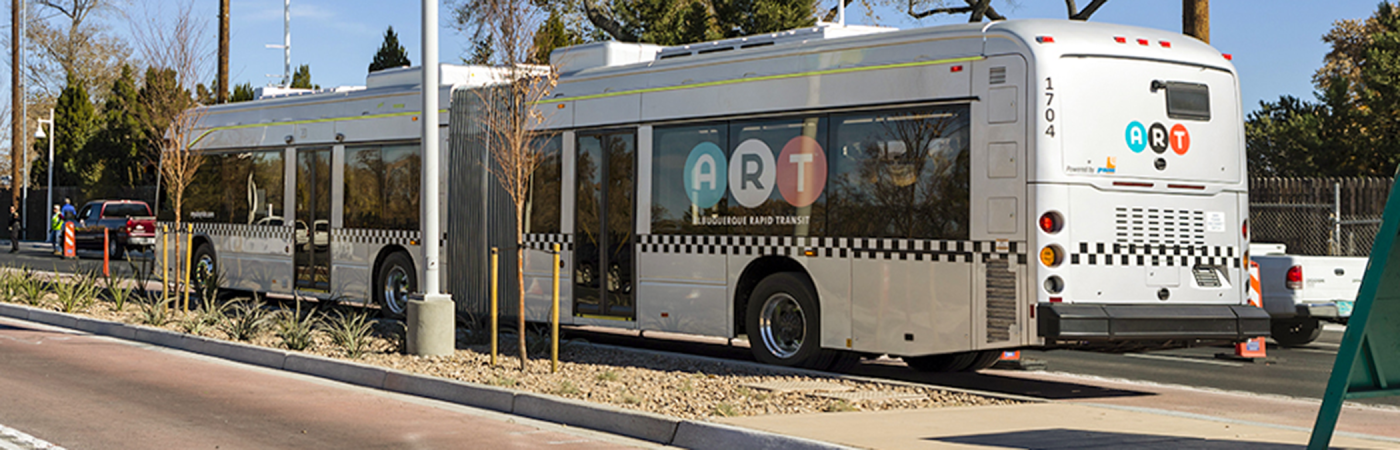 Albuquerque ART bus on street