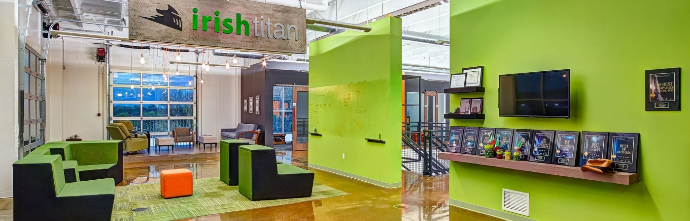 Irish Titan office renovation collaboration space