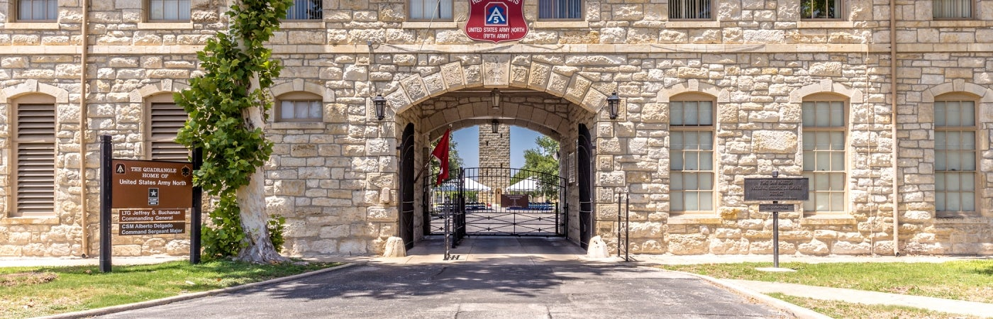 Quadrangle Entrance at Fort Sam Houston