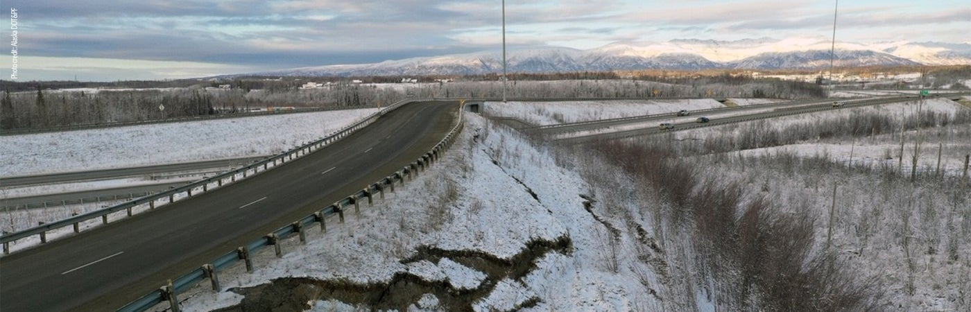 alaska flyover ramp earthquake damage