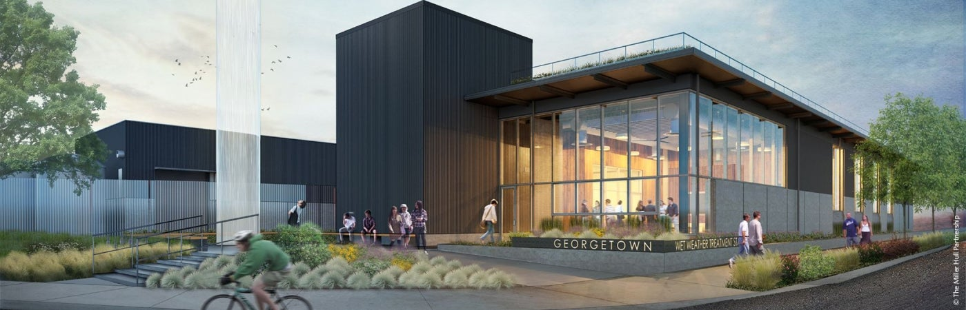 Georgetown Wet Weather Treatment Station rendering