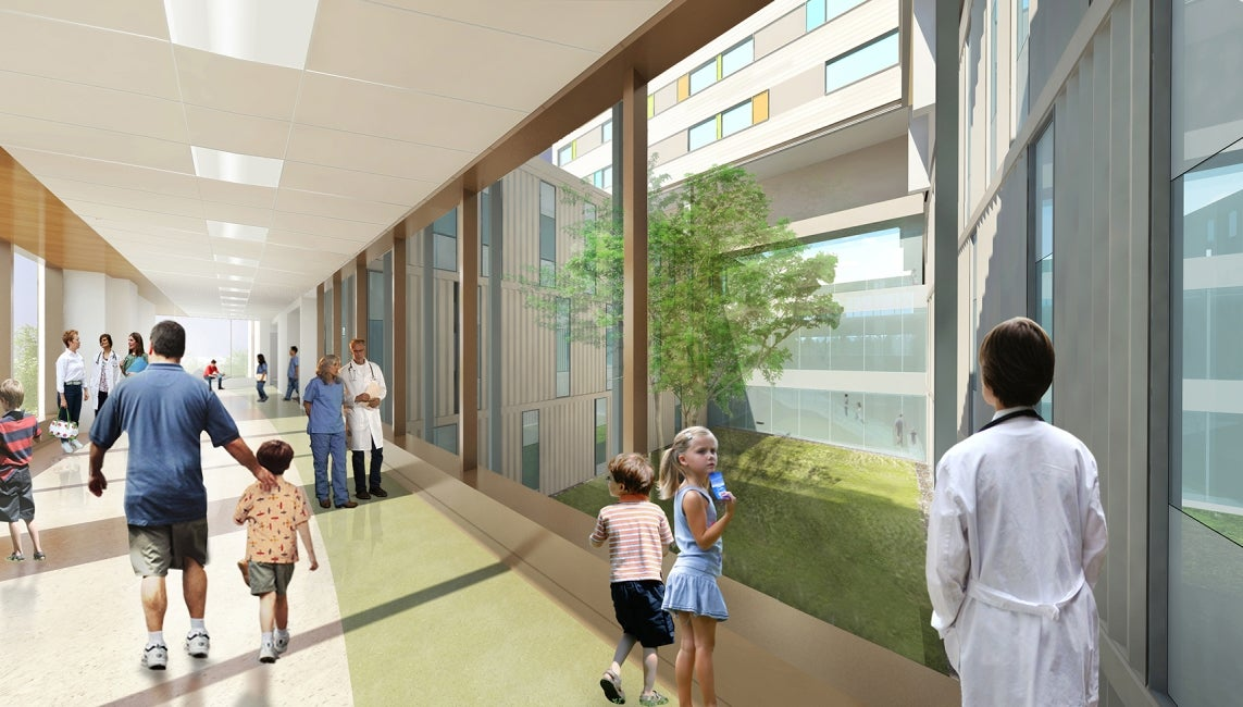 Teck Acute Care Centre BC Children's and Women's Hospital Concourse Rendering