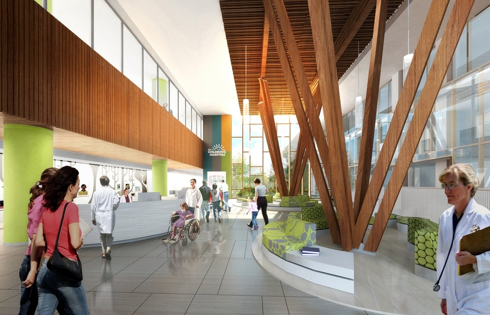 Teck Acute Care Centre BC Children's and Women's Hospital Main Lobby Rendering