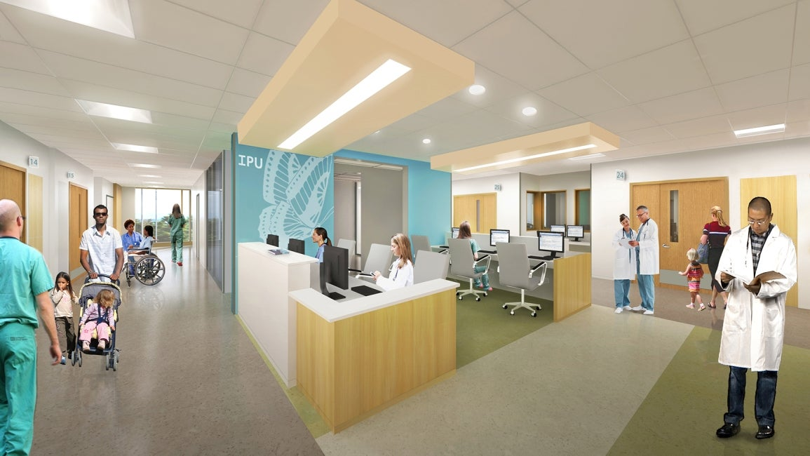 Teck Acute Care Centre BC Children's and Women's Hospital Team Care Station Rendering