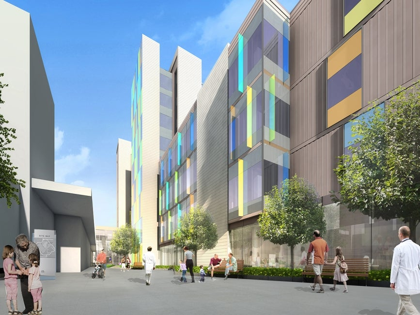 Teck Acute Care Centre BC Children's and Women's Hospital West Courtyard Rendering