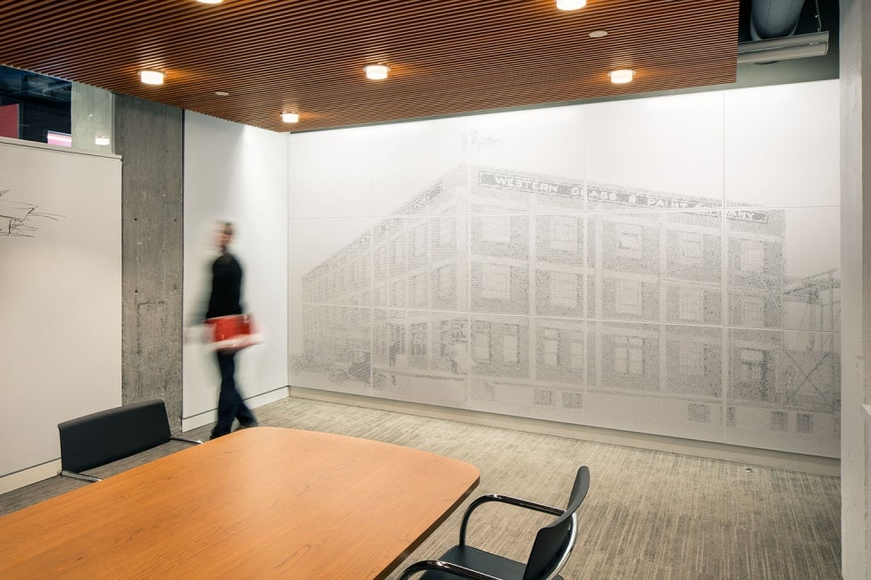 American Institute of Architects Nebraska Office Redesign Conference Room