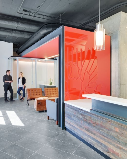American Institute of Architects Nebraska Office Redesign Lobby
