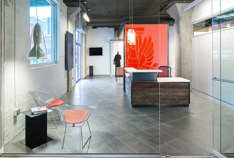 American Institute of Architects Nebraska Office Redesign Reception