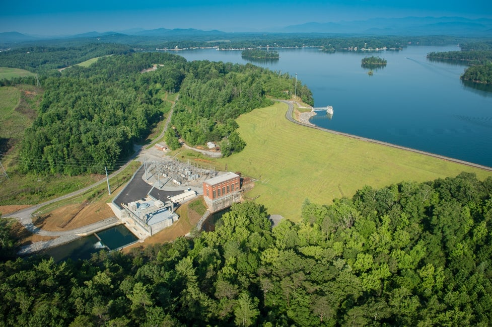Bridgewater Hydroelectric Facility Aerial View