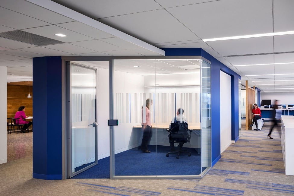 Bristol-Myers Squibb Module E Office Renovation Blue Conference