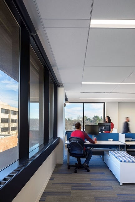 Bristol-Myers Squibb Module E Office Renovation Workspace Corner