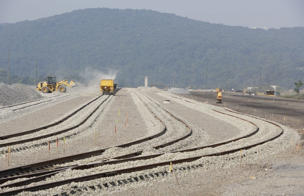 development of 100-acre rail intermodal