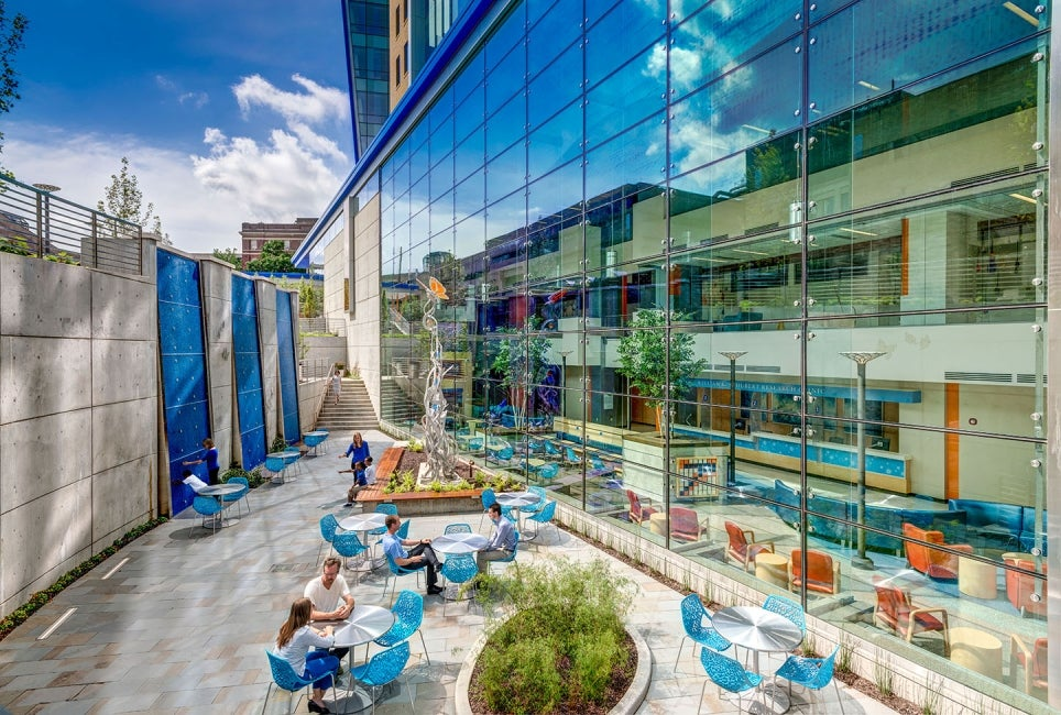 Cincinnati Children's Hospital Medical Center Clinical Sciences Pavilion Courtyard