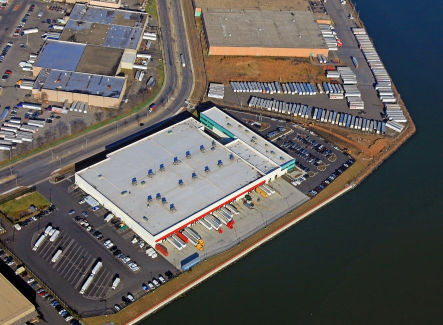 aerial view of hunts point site