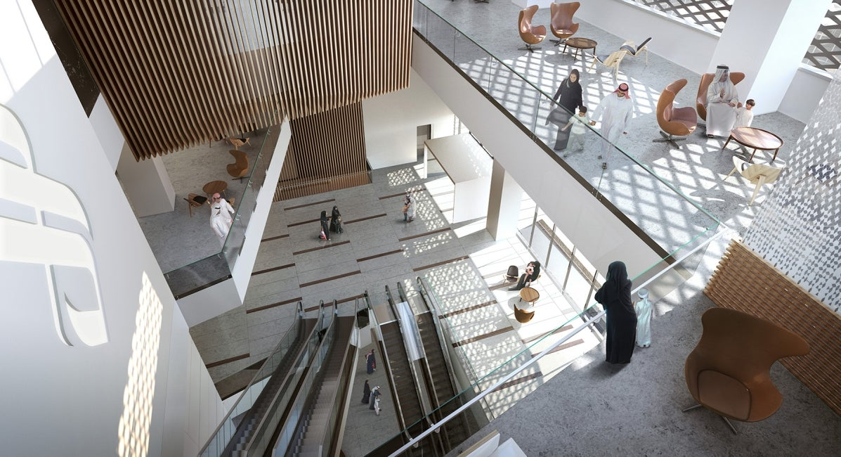 King Saud Medical City Interior Atrium