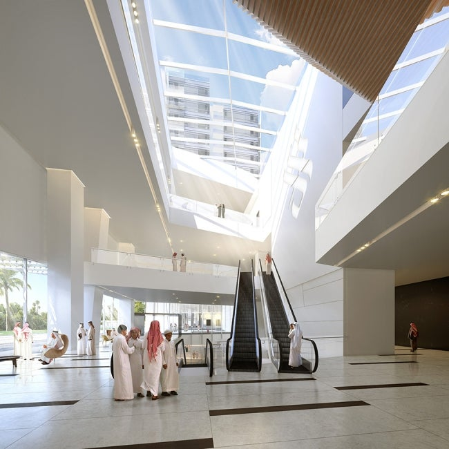 King Saud Medical City Interior Corridor