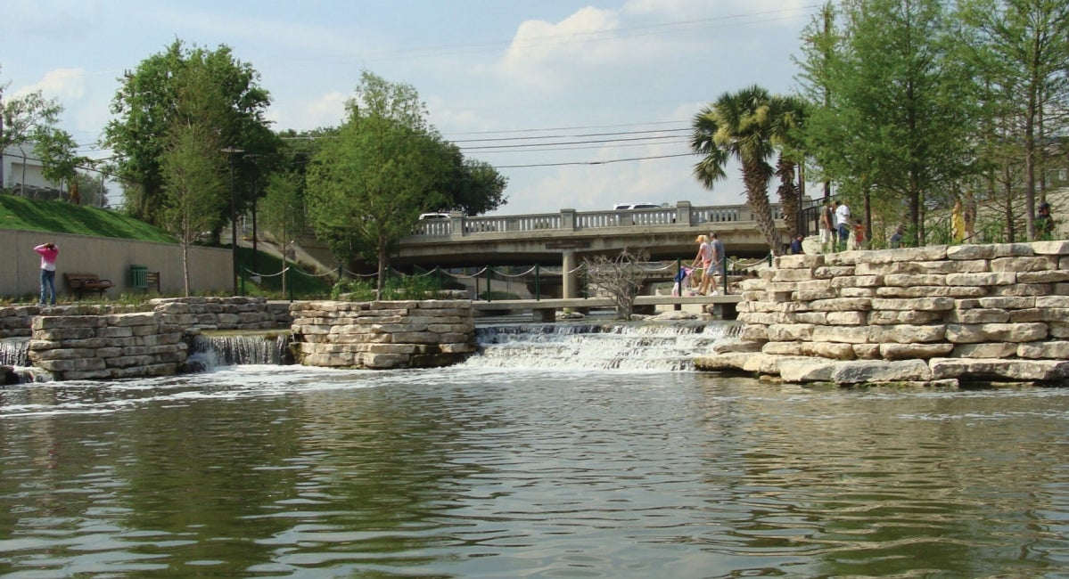 San Antonio River Walk Restoration and Flood Control Channel