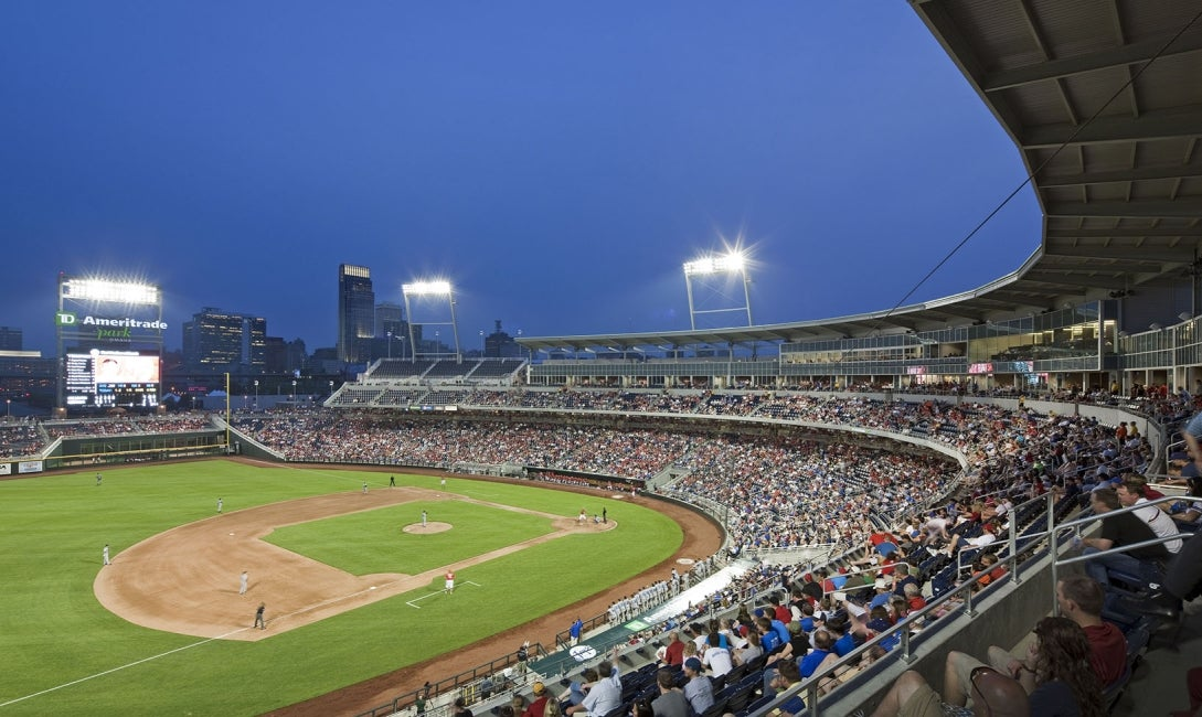 Td ameritrade park omaha hdr for Garden city community college baseball