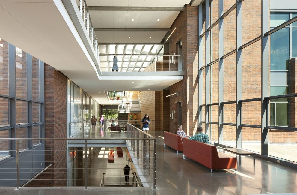 Lewis Integrative Science Building Atrium