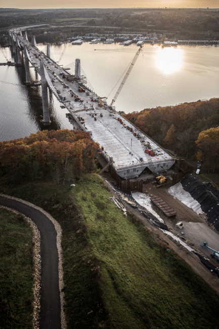 St. Croix Crossing East Approach Construction
