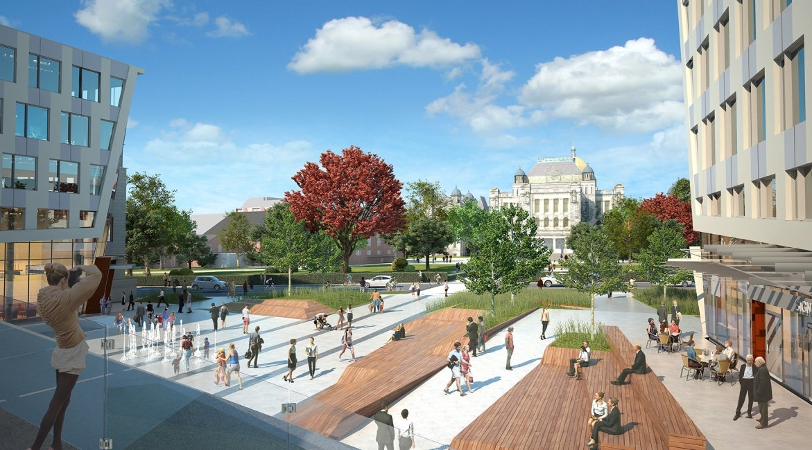Capital Park Redevelopment plaza