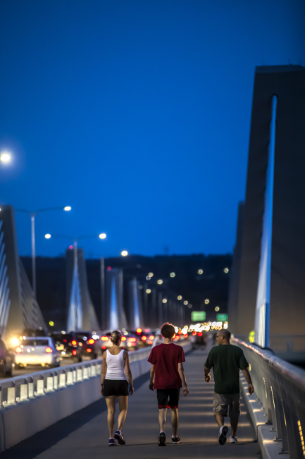 Pedestrians on St. Croix Crossing