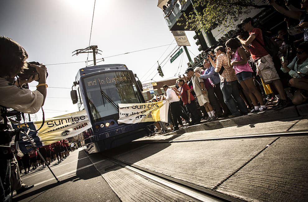 Sun Link Streetcar opening ceremony on July 25, 2014