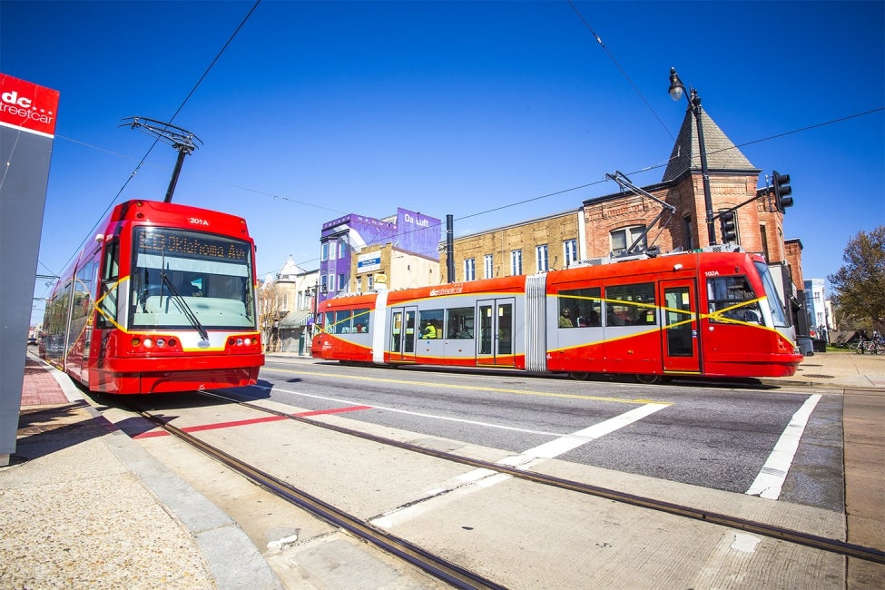 DC Streetcar in both directions