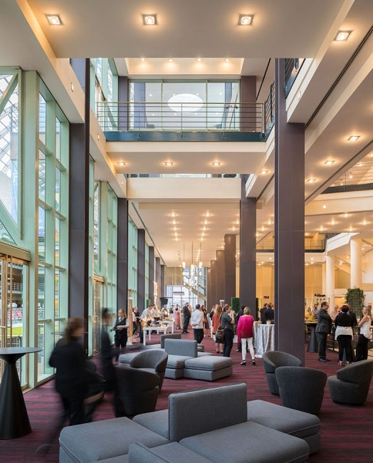 Denver Buell Theatre Lobby Renovation Long Perspective
