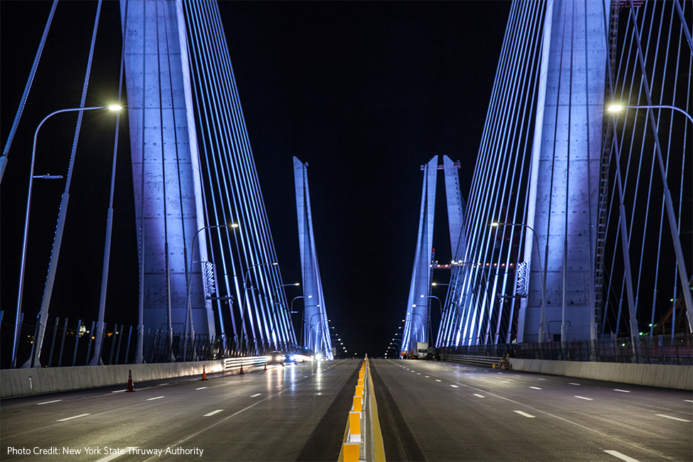 Governor Mario M. Cuomo Bridge (Tappan Zee) at night