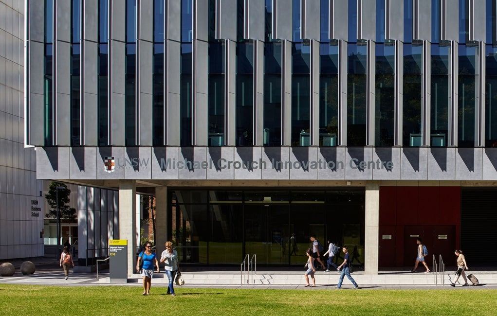 Materials Science and Engineering Building, University of New South Wales Exterior Entry Elevation