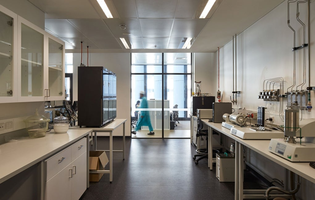 Materials Science and Engineering Building, University of New South Wales Interior Corridor Wetlab