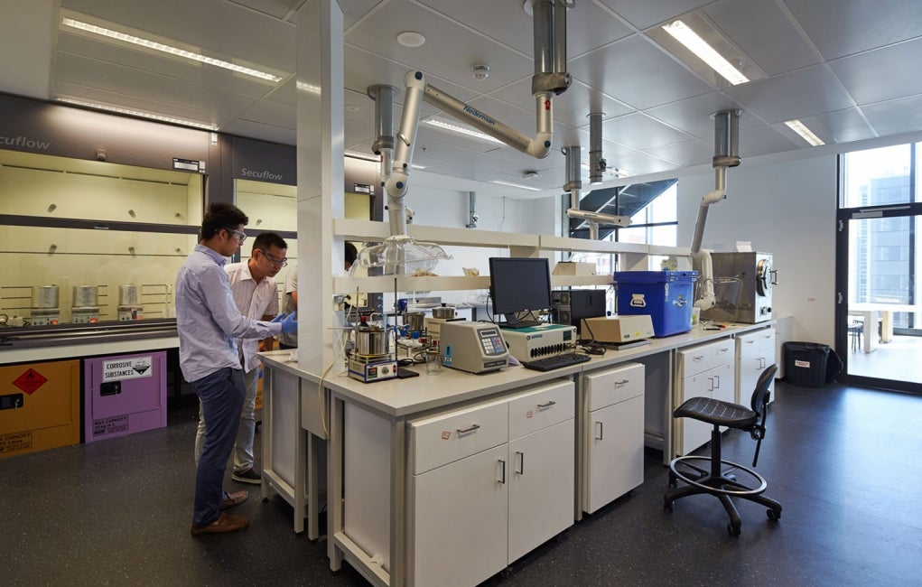 Materials Science and Engineering Building, University of New South Wales Interior Wetlab Collaboration