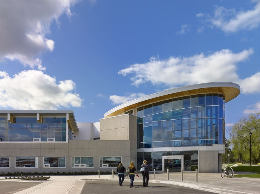 Cloverdale Recreation Centre exterior entry elevation