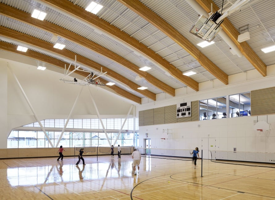 Cloverdale Recreation Centre interior athletic court