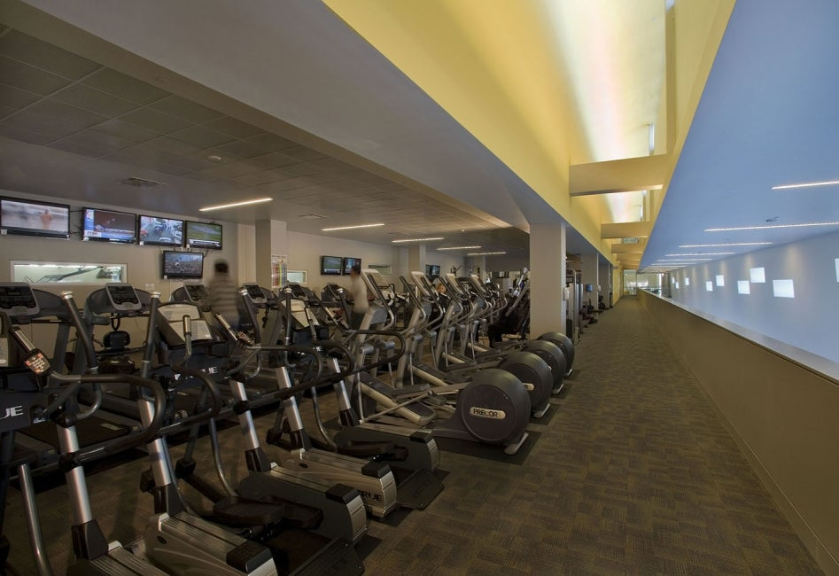 Ray and Joan Kroc Community Center cardio equipment room