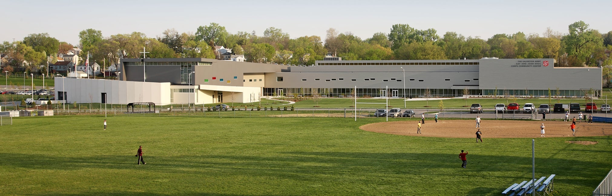 Ray and Joan Kroc Community Center exterior recreation field
