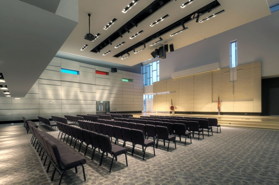 Ray and Joan Kroc Community Center interior auditorium