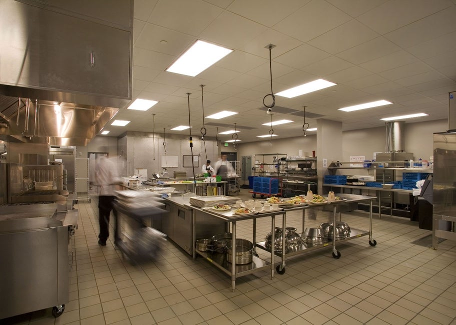 Ray and Joan Kroc Community Center interior commercial kitchen