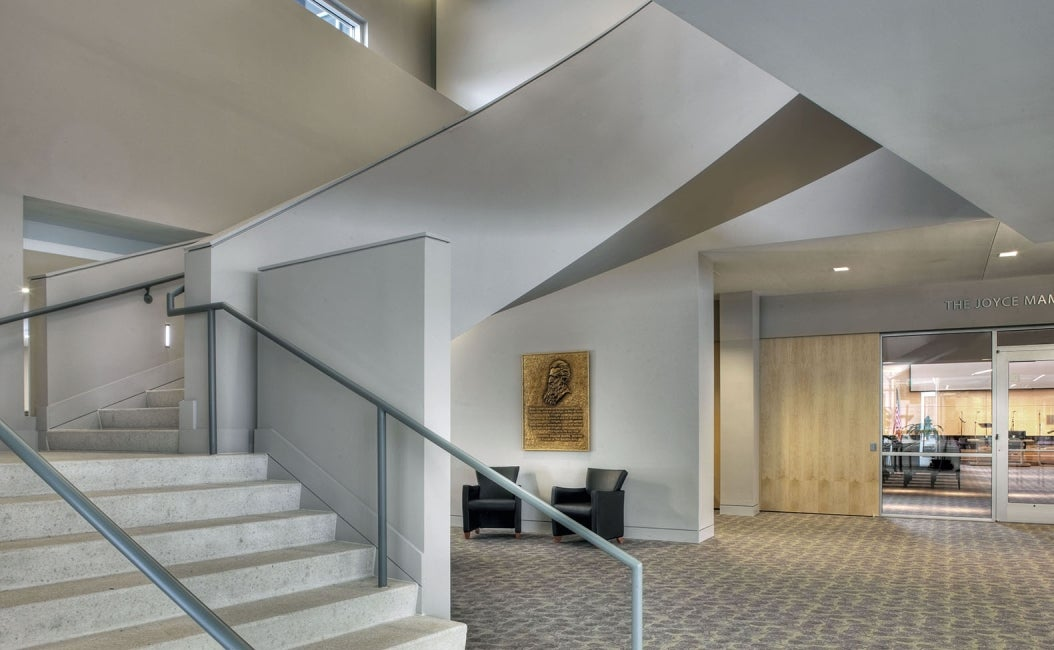 Ray and Joan Kroc Community Center interior stairway foyer