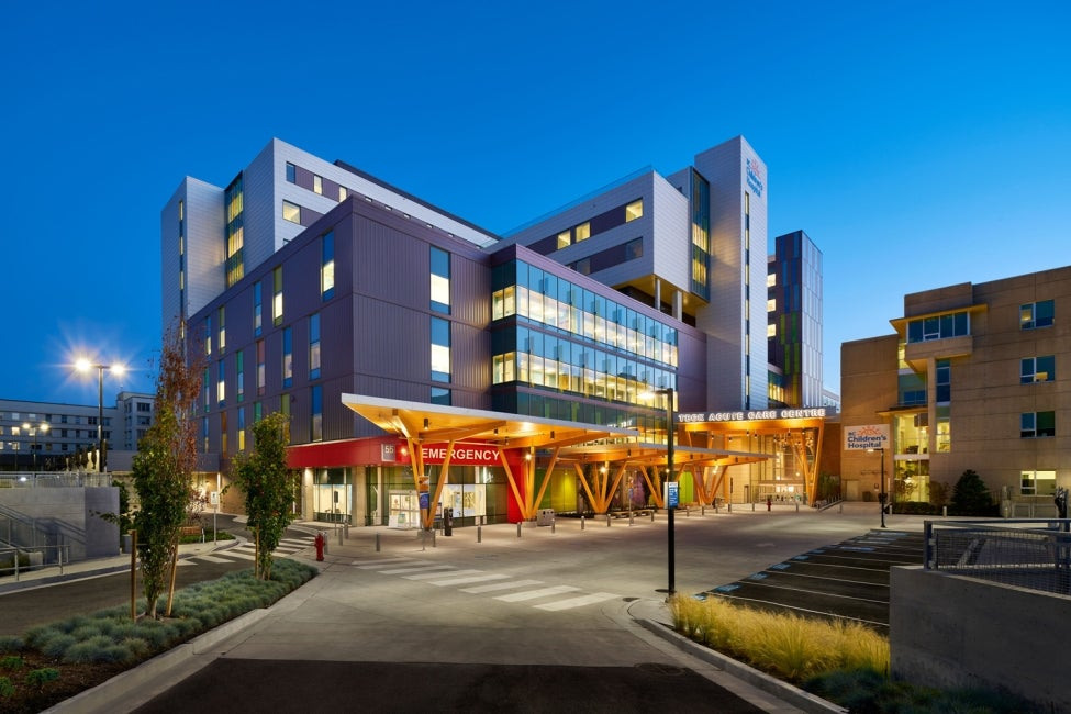 BC Children's Hospital Teck Acute Care Centre entrance