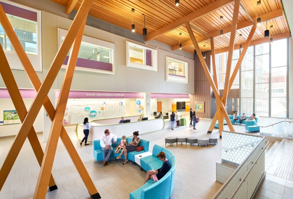 BC Children's Hospital Teck Acute Care Centre lobby