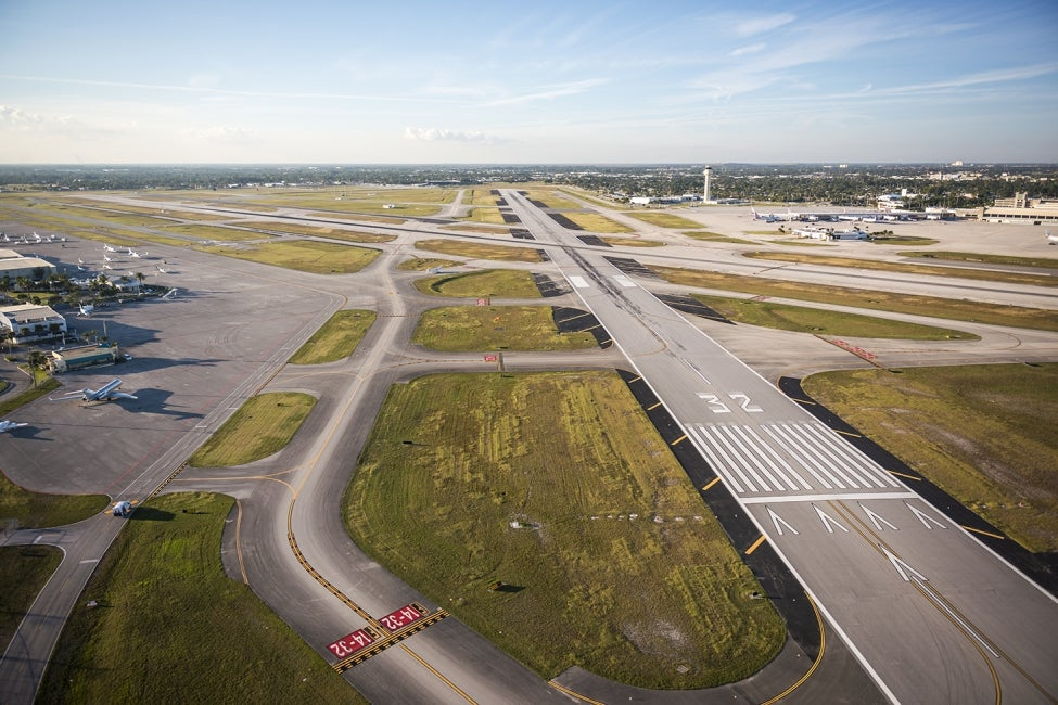 Palm Beach International Runway Aerial