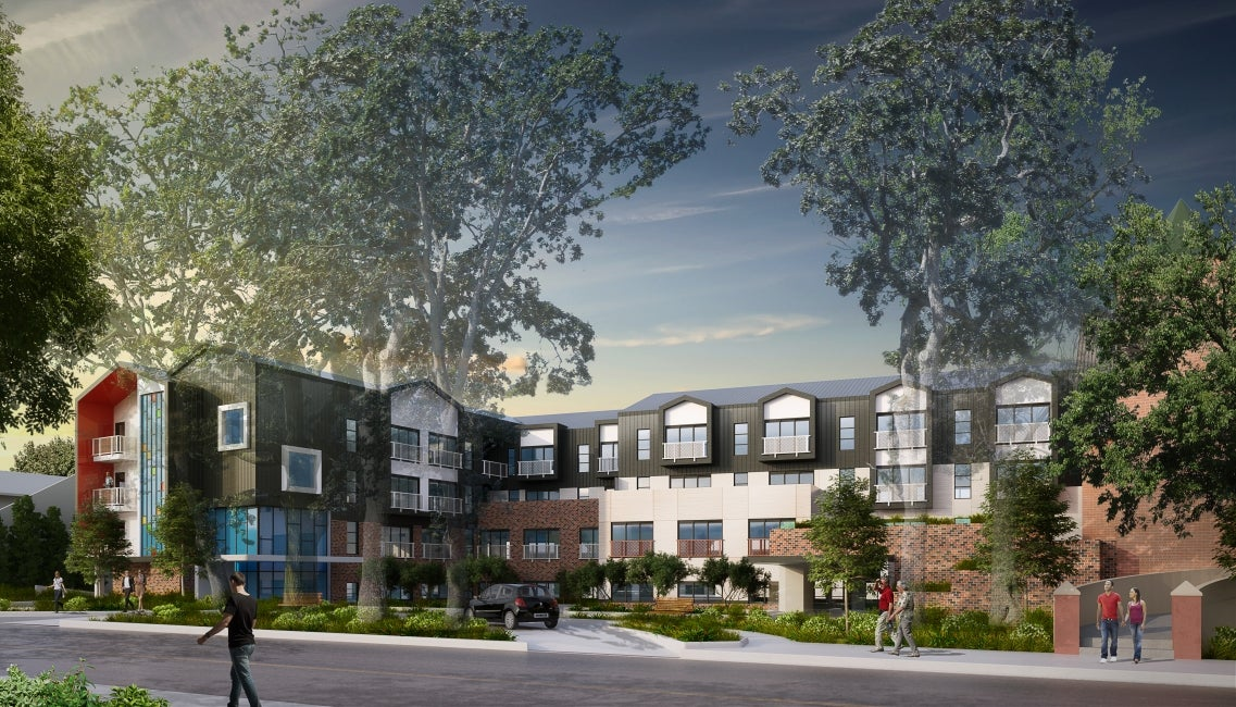 oak bay united church neighbourhood housing rendering