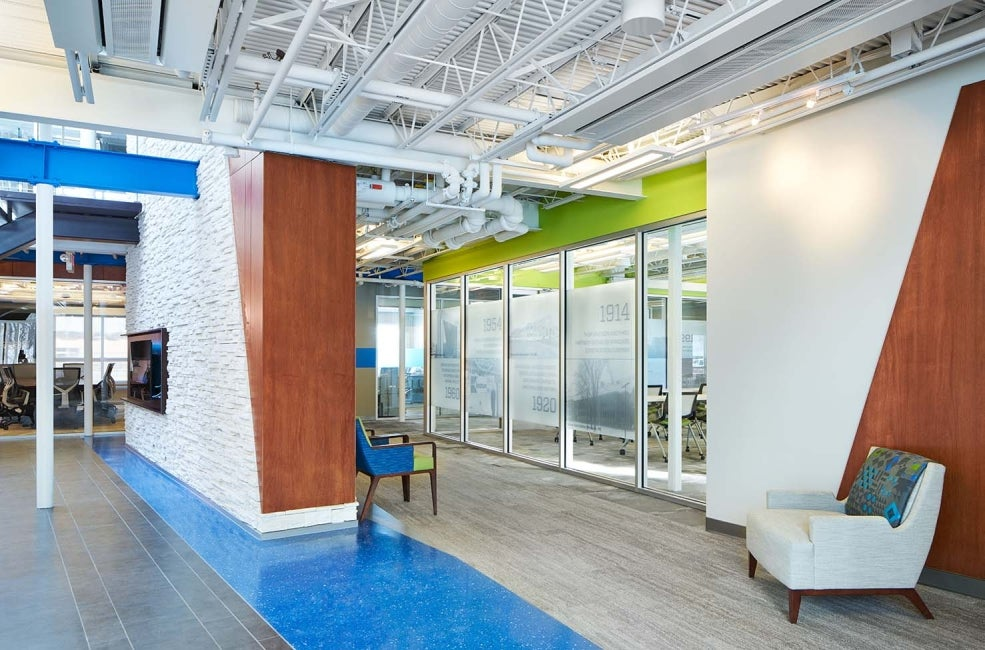 Knutson Construction Headquarters interior entertaining space HDR