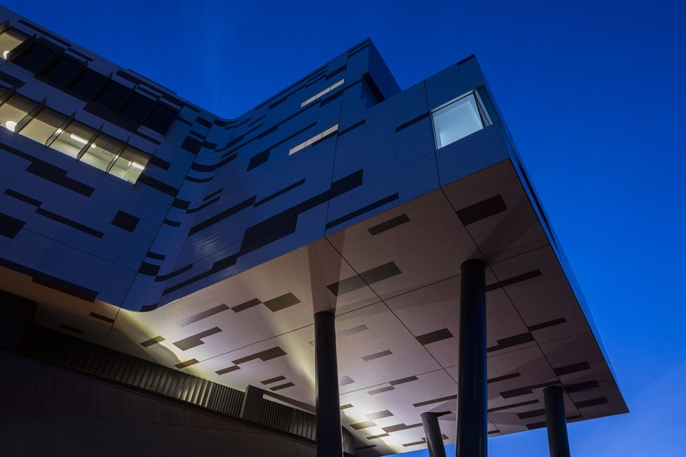 Werribee Mercy Hospital exterior night