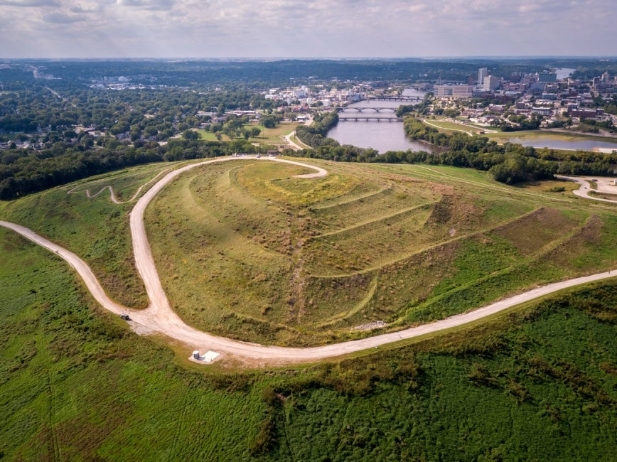 Aerial View of Mount Trashmore