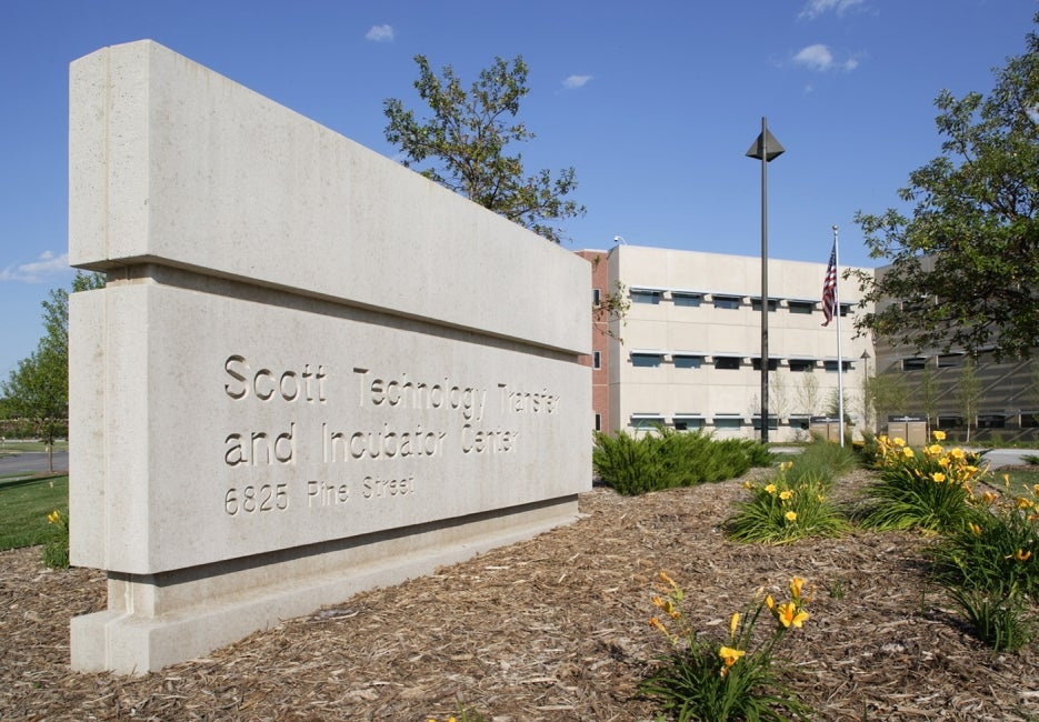 Scott Technology Center Sign