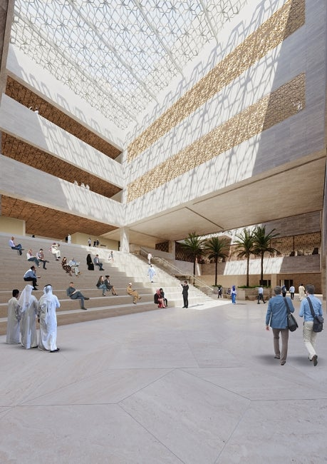 Qatar University Medicine and Health Sciences interior town hall